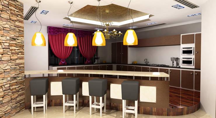 غرفة السفرة تنفيذ Rapchik Designs