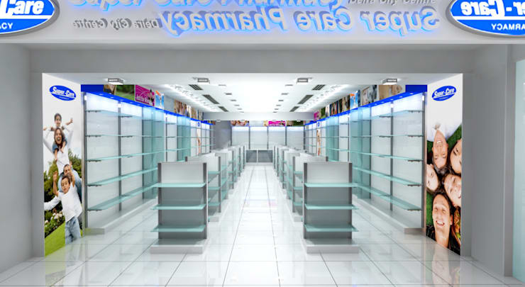 Super Care Pharmacy:  Commercial Spaces by Gurooji Designs