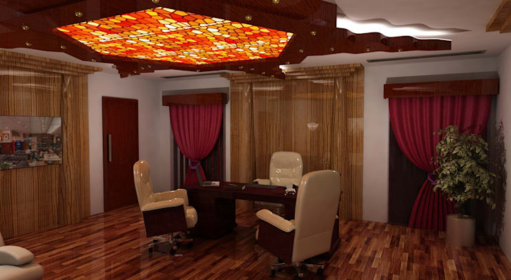 Chairman's office:  Offices & stores by Gurooji Designs,Classic