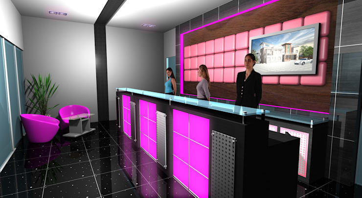 Star Dome Real Estate - Reception :  Offices & stores by Gurooji Designs