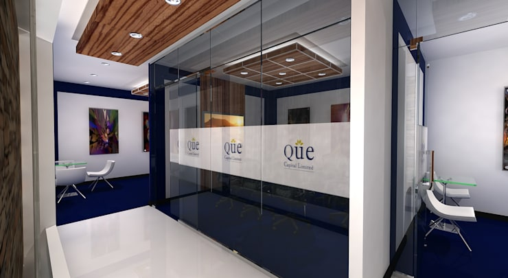 QUE Capital Office:  Offices & stores by Gurooji Designs
