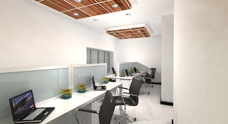 QUE Capital Office:  Offices & stores by Gurooji Design