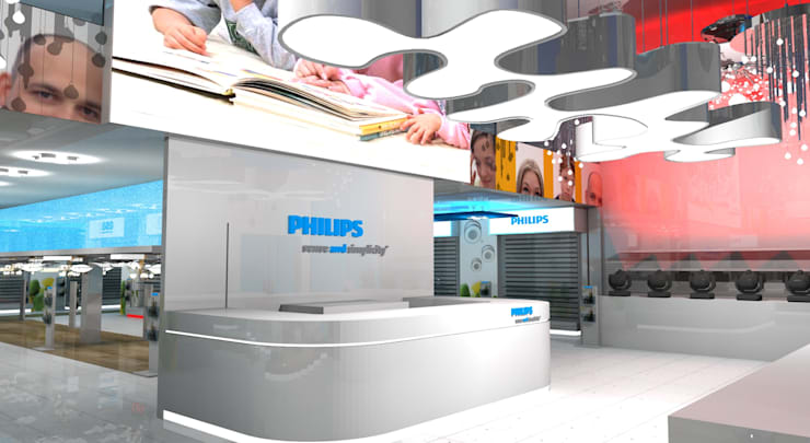 Philips Showroom Jeddah:  Commercial Spaces by Gurooji Designs,Modern