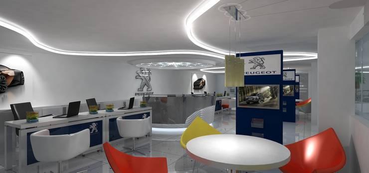 Peugeot Service station - SZR:  Car Dealerships by Gurooji Designs