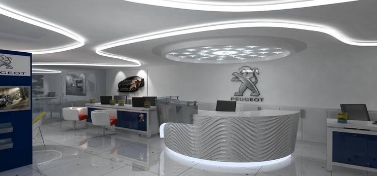 Peugeot Service station—SZR:  Car Dealerships by Gurooji Designs