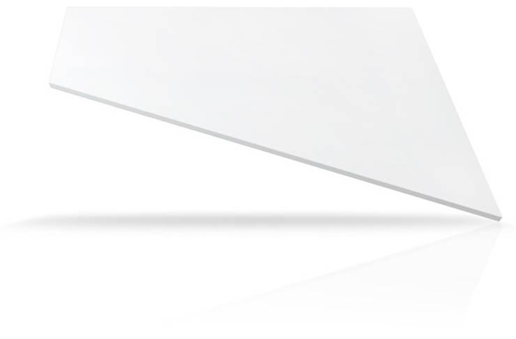 Mesadas de Cuarzo Europeo  TECHNISTONE CRYSTAL ABSOLUTE WHITE: Cocinas de estilo  por Technistone Argentina,
