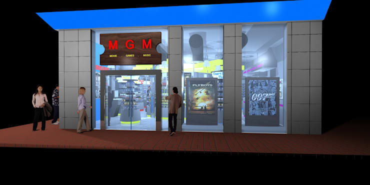 MGM Video Shop:  Commercial Spaces by Gurooji Designs