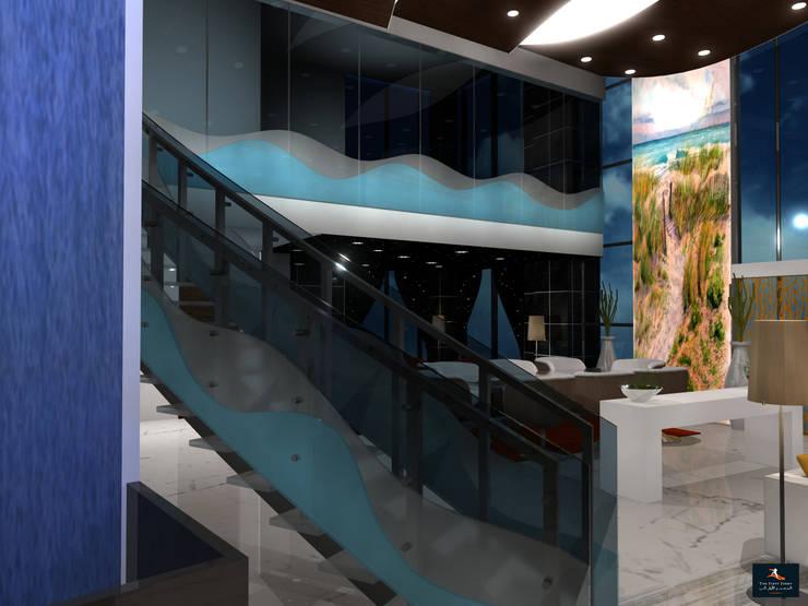 Loft Apartment:  Living room by Gurooji Designs,Modern