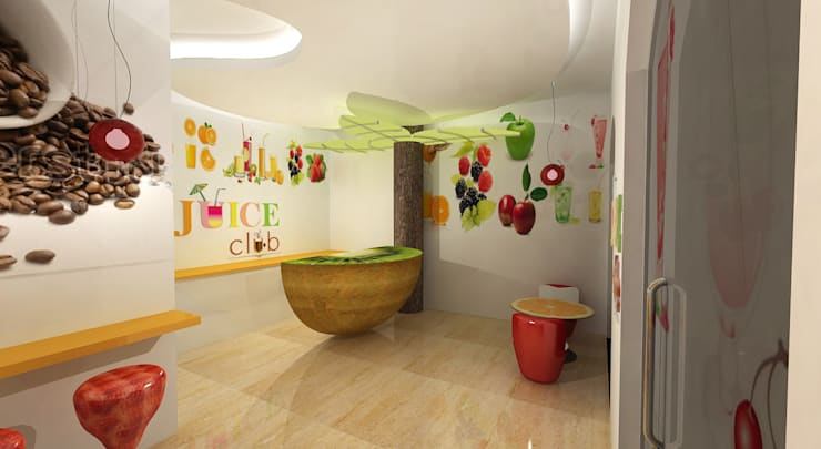 Juice Club:  Commercial Spaces by Gurooji Designs