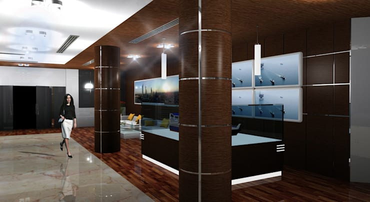 Elcome Showroom:  Commercial Spaces by Gurooji Designs