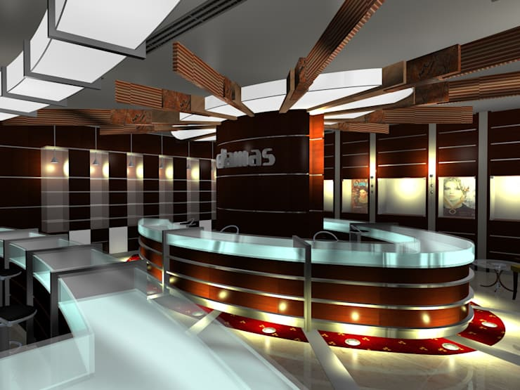 Damas Showroom:  Commercial Spaces by Gurooji Design