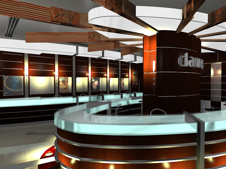 Damas Showroom:  Commercial Spaces by Gurooji Designs