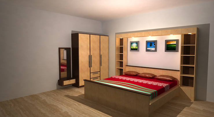 Crystal Furniture:  Bedroom by Gurooji Designs