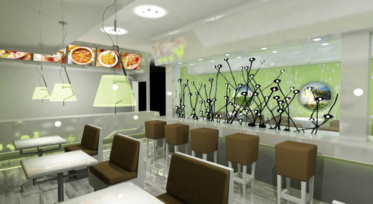 Crunchy Chicken:  Commercial Spaces by Gurooji Designs,Modern