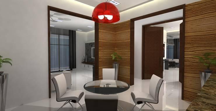 Barari Villa:  Dining room by Rapchik Designs