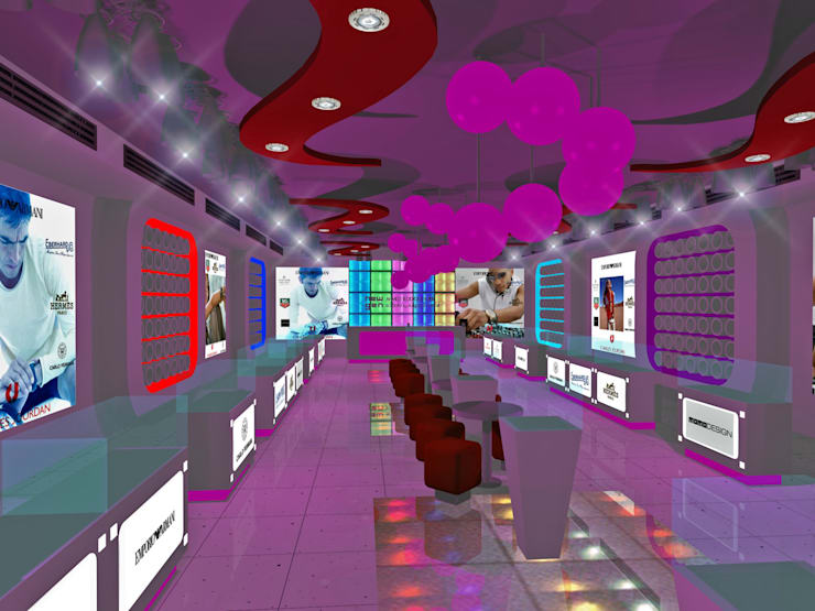 Watch Showroom:  Commercial Spaces by Gurooji Designs,
