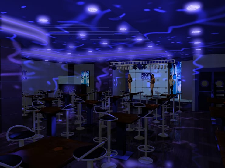 Sky Vodka—club:  Bars & clubs by Gurooji Designs