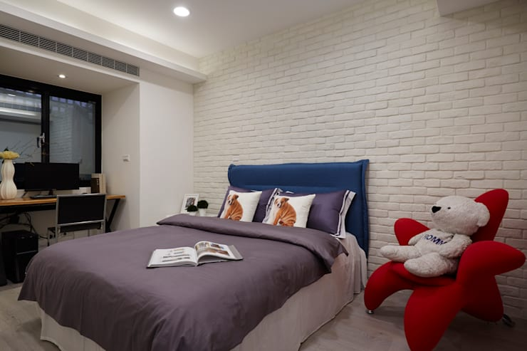 個性不同影響了居室呈現的氛圍,溫馨可愛呈現空間中的另一種質感:  臥室 by 弘悅國際室內裝修有限公司
