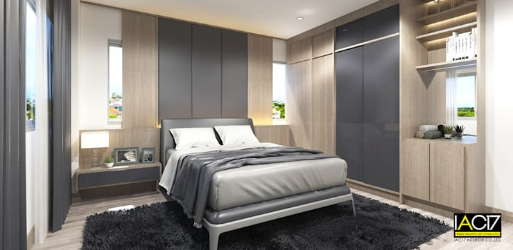 โปรเจค รามคำแหง 20:  ห้องนอน by iac17interior