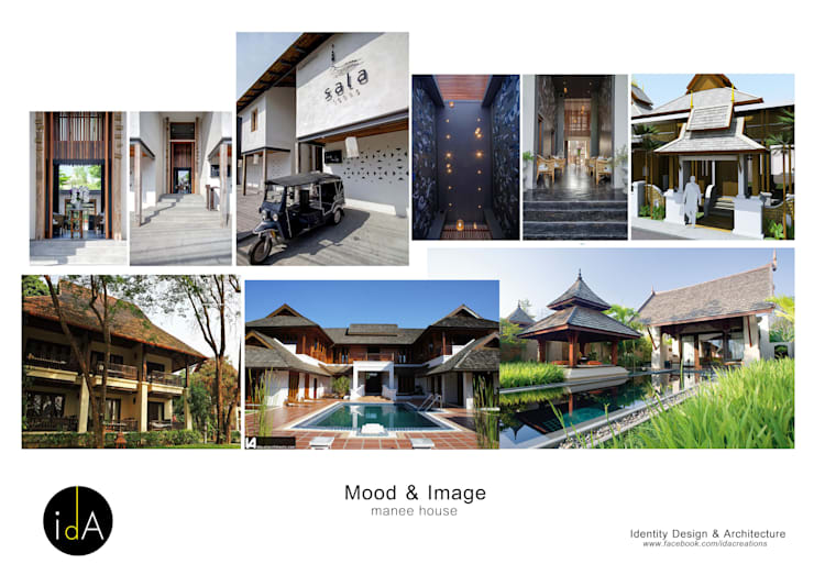 "Renovate  Guest house "" Manee House "":  โรงแรม by Identity Design & Architecture Part.,Ltd"