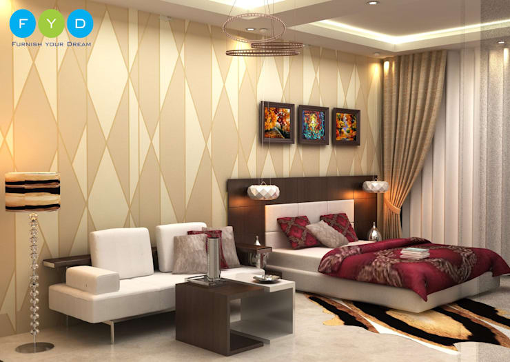 Your home should tell the story of who you are, and be a collection of what you love.:  Bedroom by FYD Interiors Pvt. Ltd