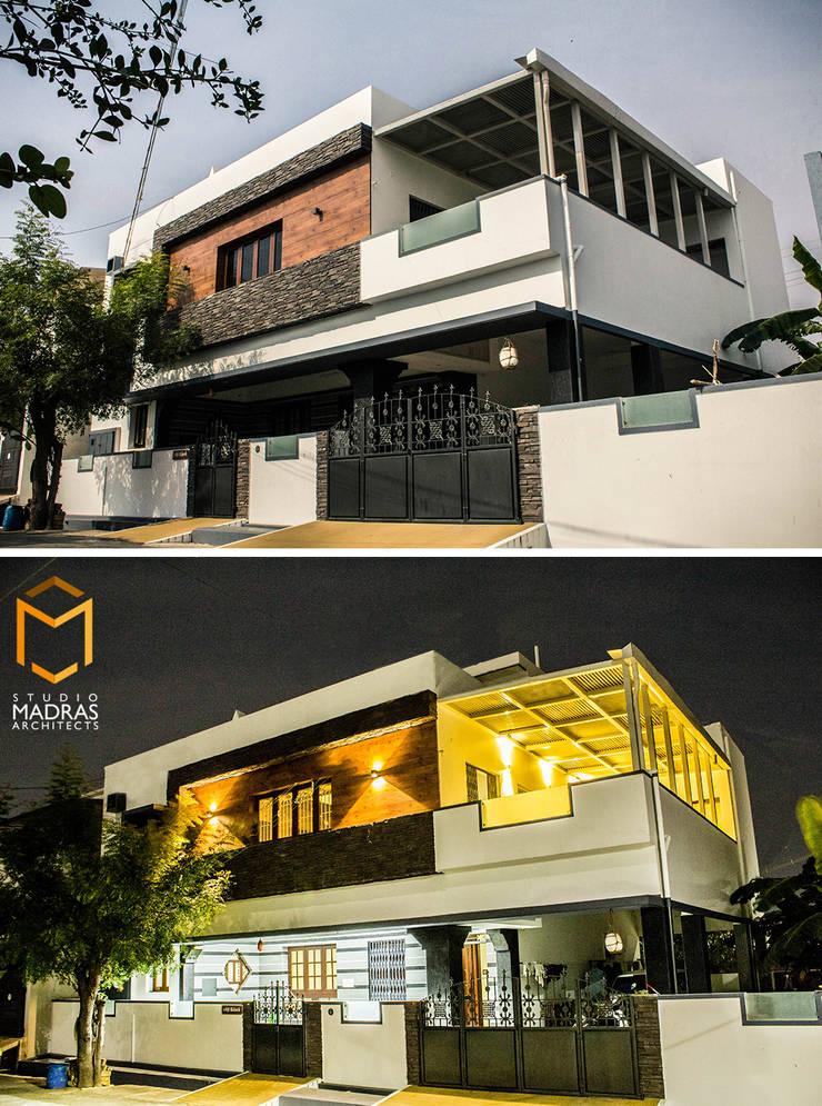 Dusk & Dawn:  Houses by Studio Madras Architects,