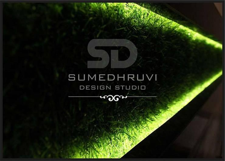 Highlighting Purpose: modern Living room by SUMEDHRUVI DESIGN STUDIO