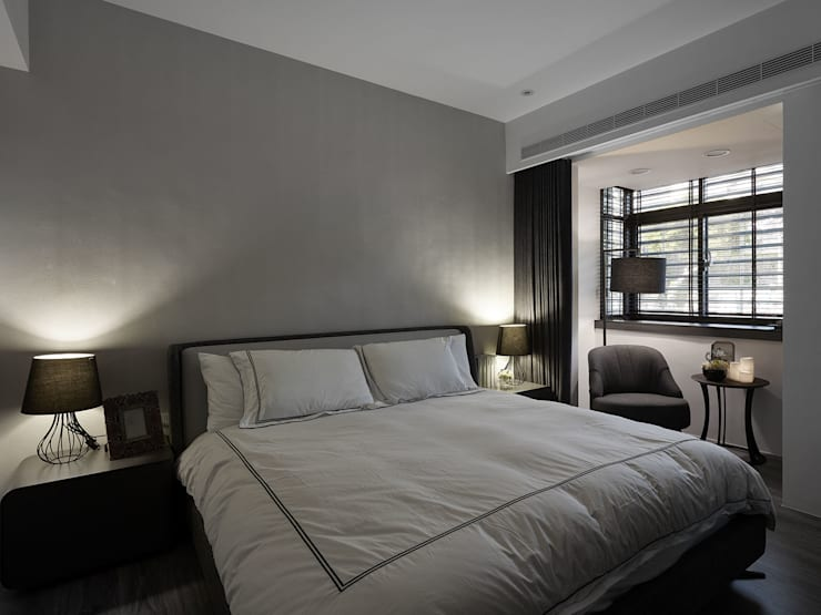Moderne Schlafzimmer von 大集國際室內裝修設計工程有限公司 Modern