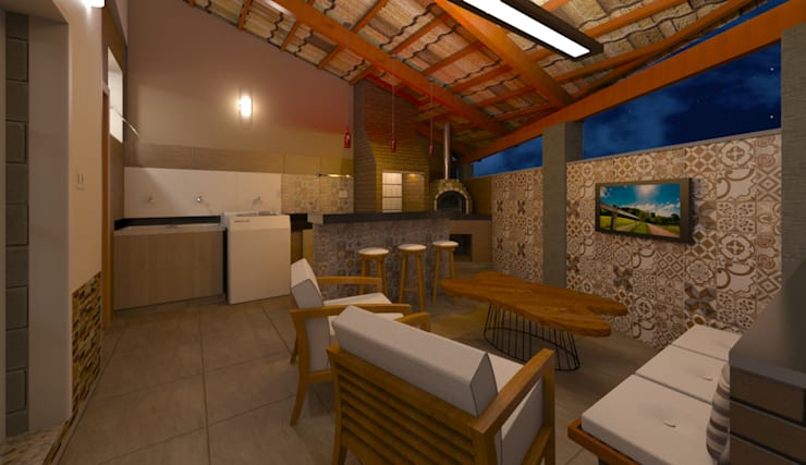 Espaço Gourmet: Garagens e edículas  por DTE Arquitetura