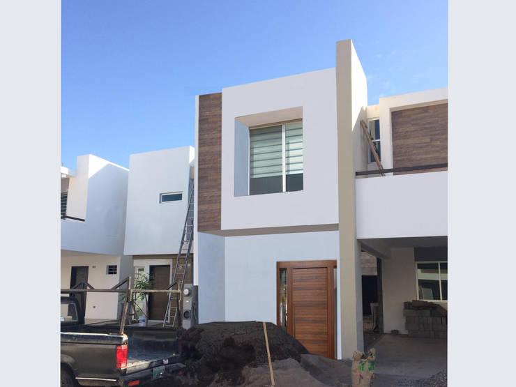 Render como opción de fachada: Casas de estilo moderno por Arquitectura-Construcciòn Godwin