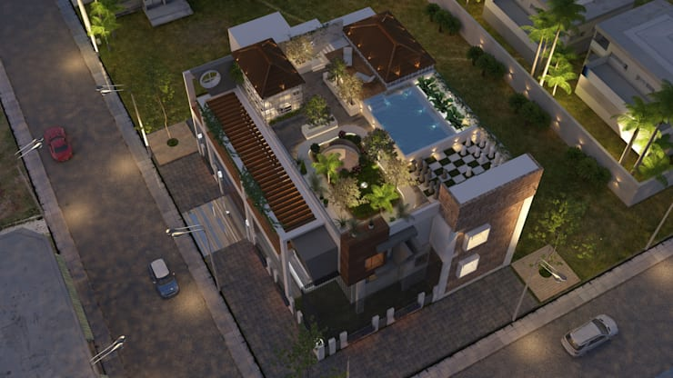 Bunglow:  Houses by UK CONCEPT DESIGNER