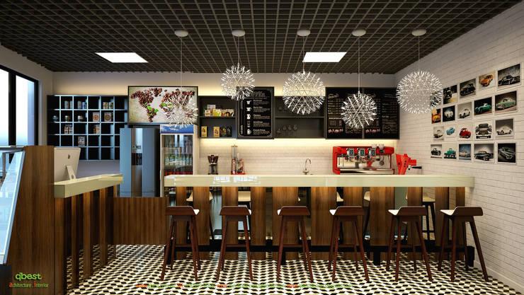 Quầy pha chế:  Kitchen by Công ty TNHH Thiết Kế và Ứng Dụng QBEST