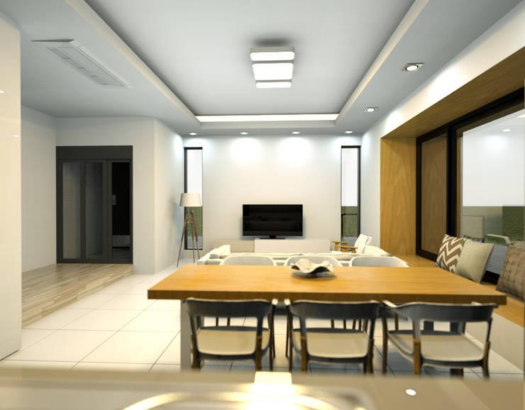 보령전원주택: 디자인 이업의  거실,모던