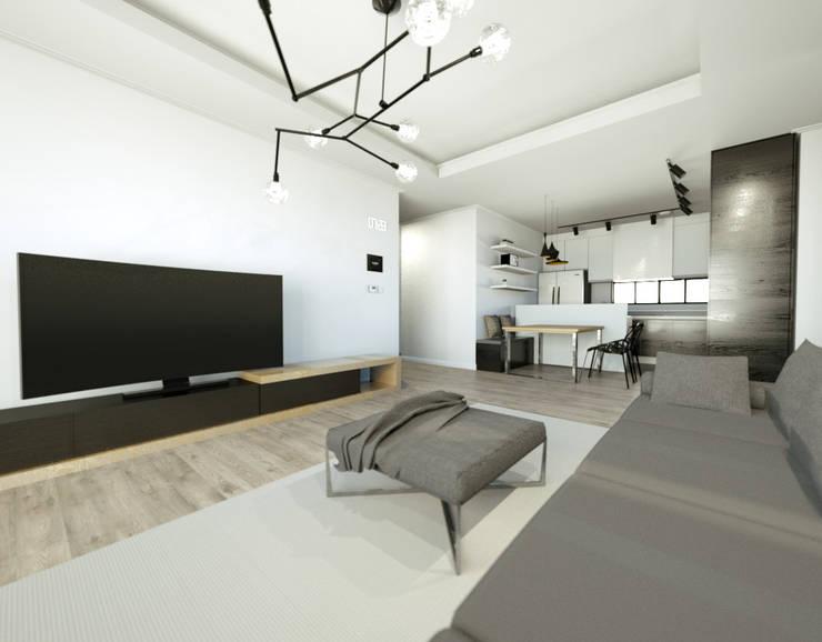 이천시 덕평 전원주택: 디자인 이업의  거실