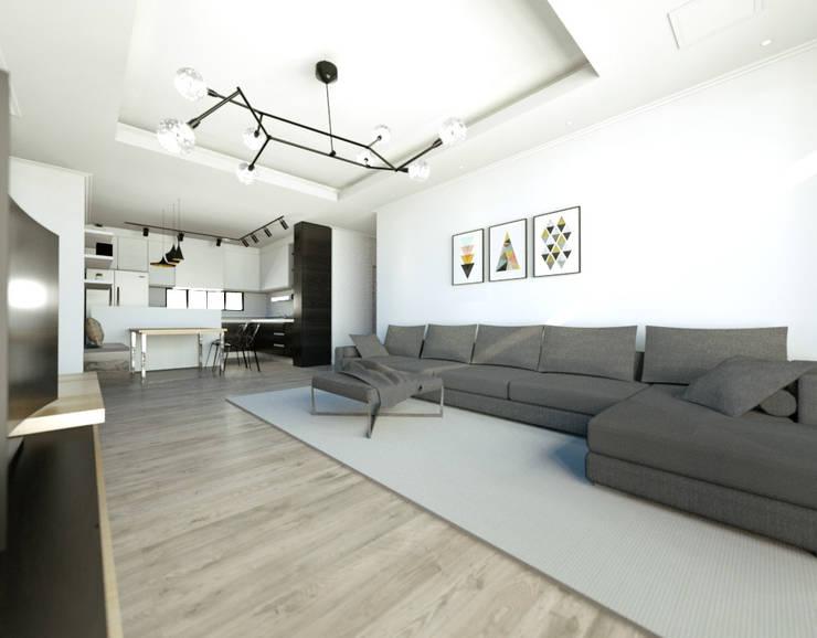 ห้องนั่งเล่น by 디자인 이업