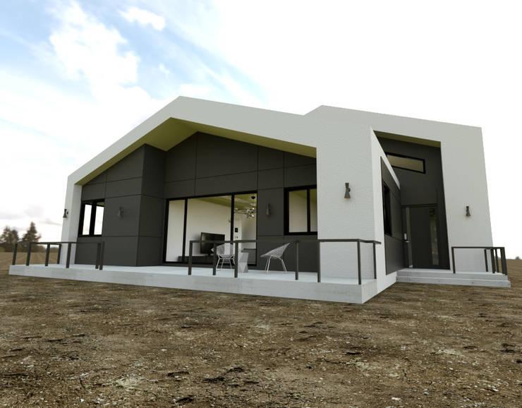 이천시 덕평 전원주택: 디자인 이업의  주택