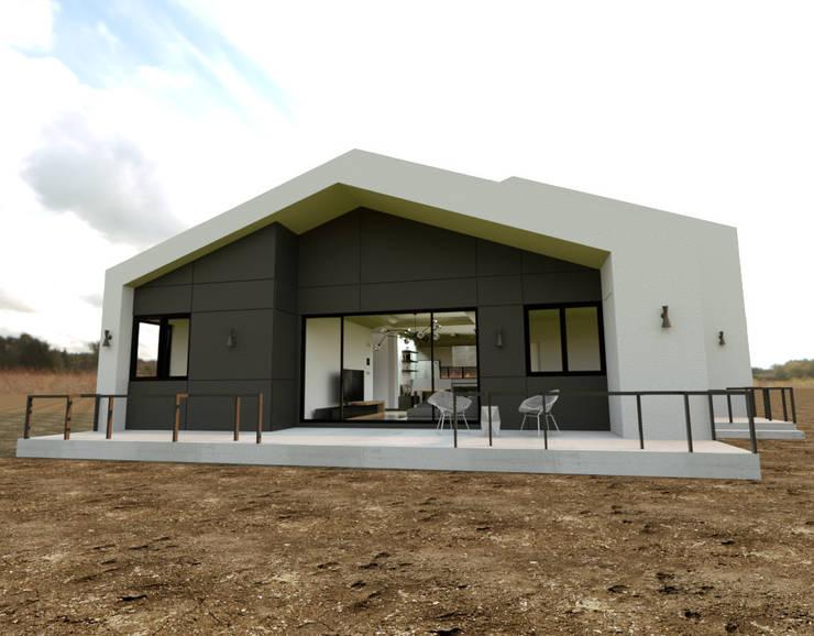 Casas de estilo  por 디자인 이업