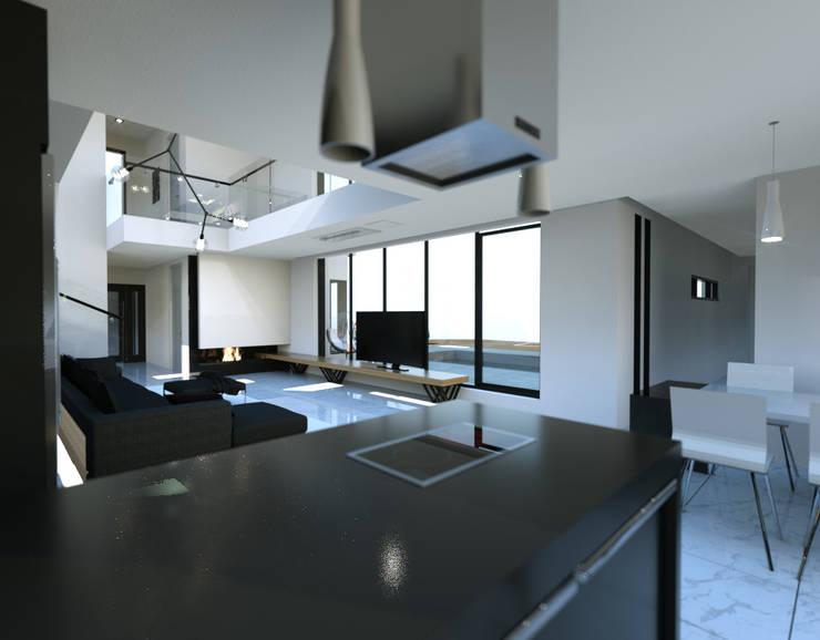 경기도 양평 K주택: 디자인 이업의  주방