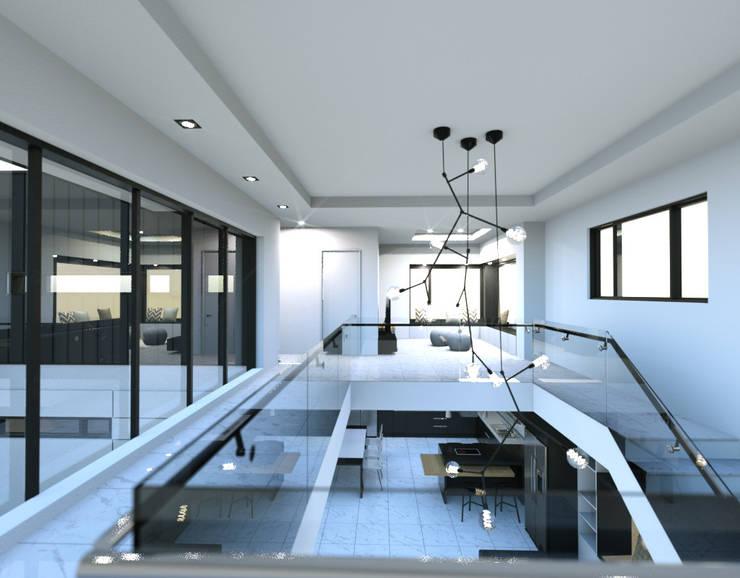경기도 양평 K주택: 디자인 이업의  거실,