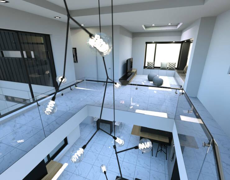 경기도 양평 K주택: 디자인 이업의  다이닝 룸,