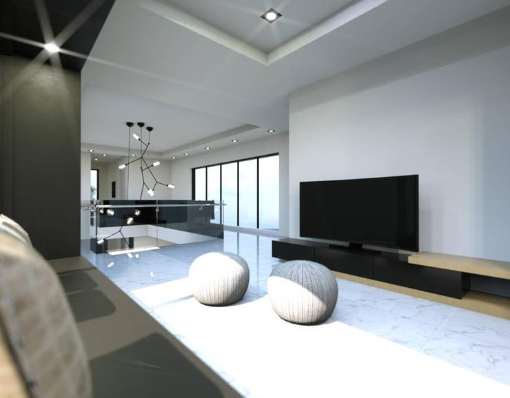경기도 양평 K주택: 디자인 이업의  다이닝 룸