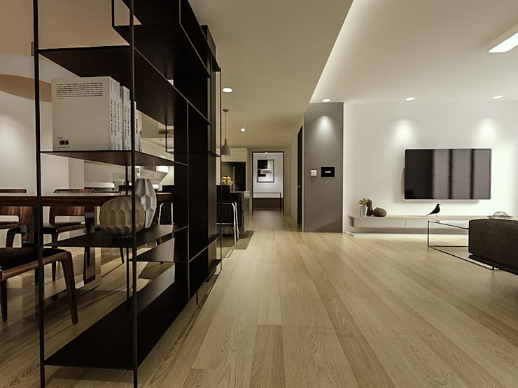 Salones de estilo  de 디자인 이업, Moderno
