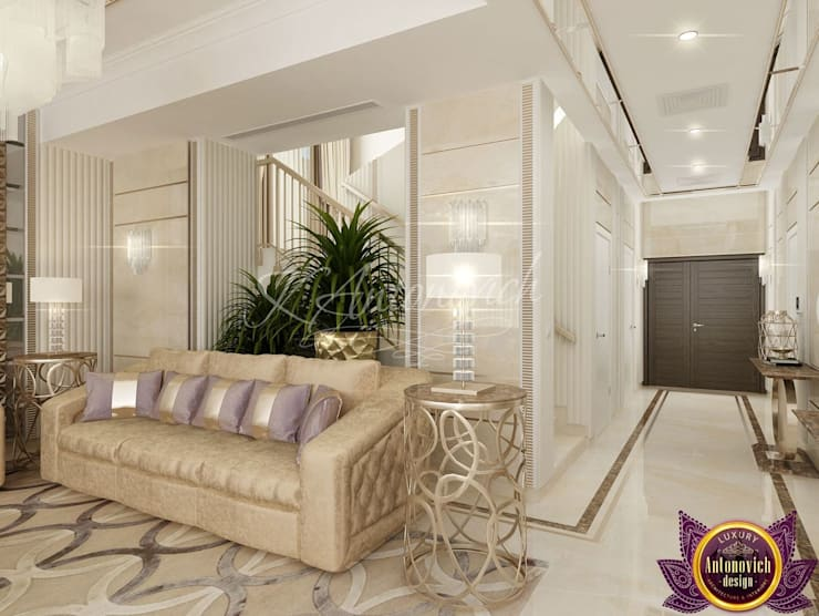 ​  Best Apartment design of Katrina Antonovich:  Living room by Luxury Antonovich Design