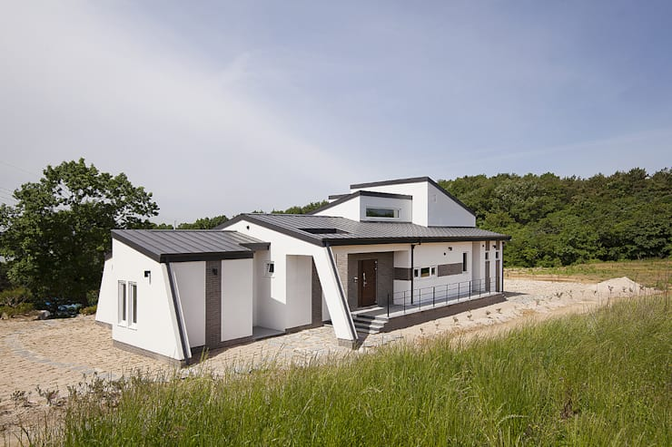 Projekty,  Domy zaprojektowane przez (주)그린홈예진