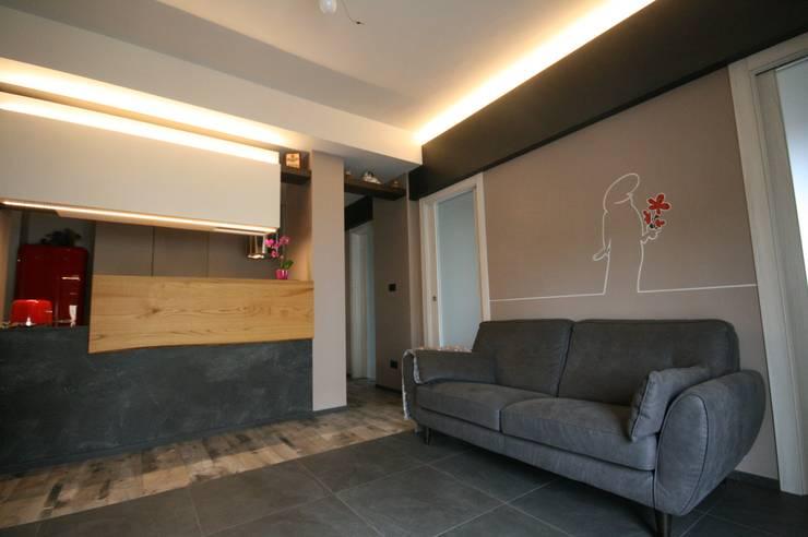 Projekty,  Salon zaprojektowane przez Roberta Bonavia Architetto