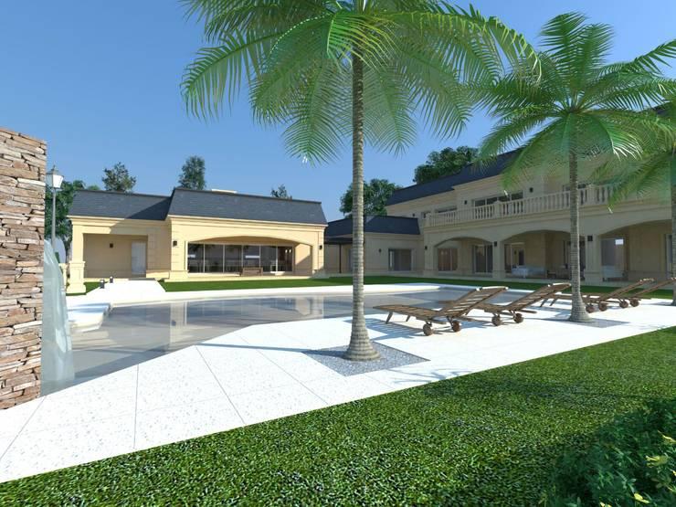 CASA SAN DIEGO: Casas de estilo  por ARQUITECTURA Y EMPRENDIMIENTOS,