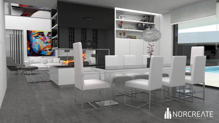 Design de Interiores:   por NORCREATE - Arquitectura & Engenharia