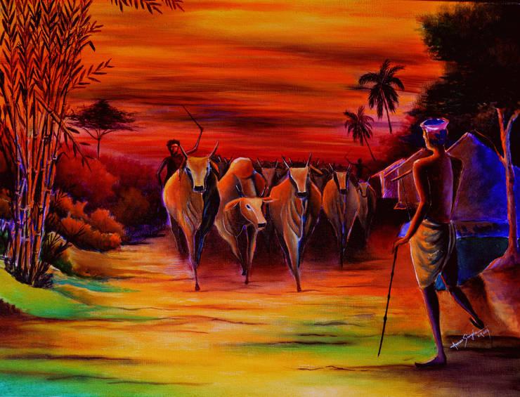 Returning- 2:  Artwork by Indian Art Ideas