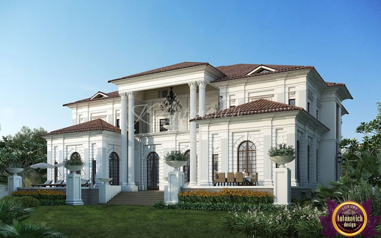 ​  Facade Design in the classical style from Katrina Antonovich:  Houses by Luxury Antonovich Design