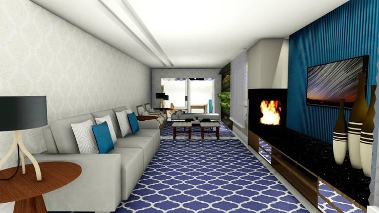 Sala de Estar: Salas de estar ecléticas por Studio²